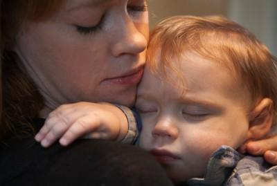 Emily Papp et son fils Ronan, atteint de la maladie de Tay-Sachs